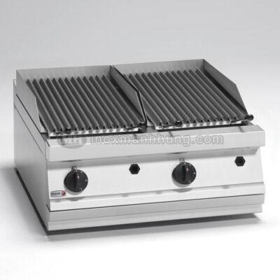 Bếp nướng than nhân tạo đôi