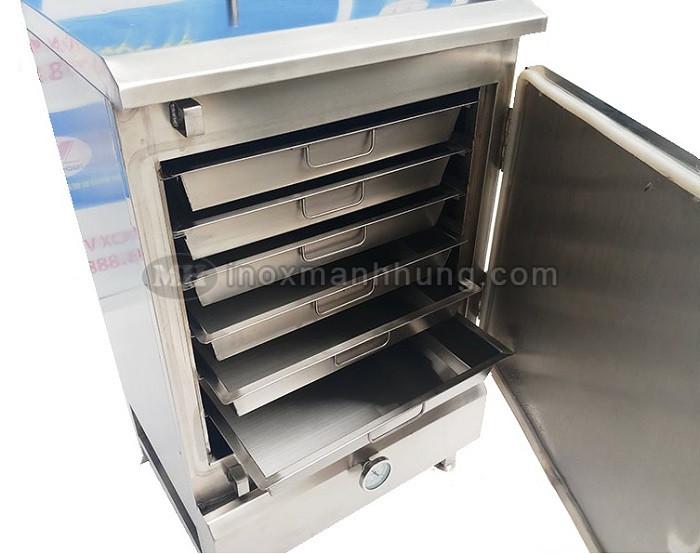 Tủ hấp cơm công nghiệp 30kg sử dụng Gas