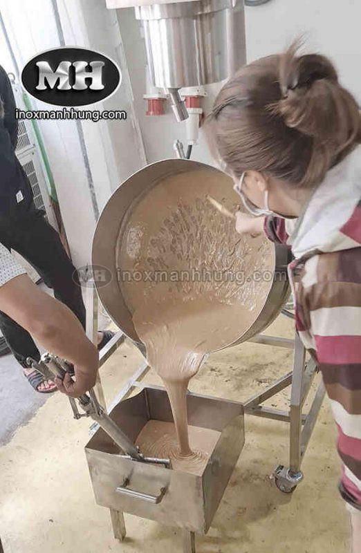 Máy làm kẹo dừa, chảo sên mứt dừa