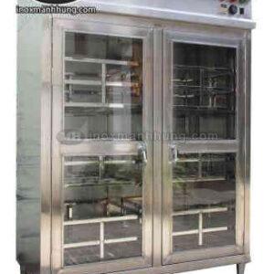 Tủ sấy chén bát 2 cửa inox diệt khuẩn